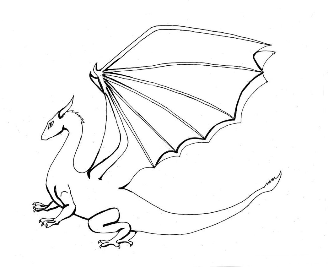detailed dragon coloring pages - photo #40