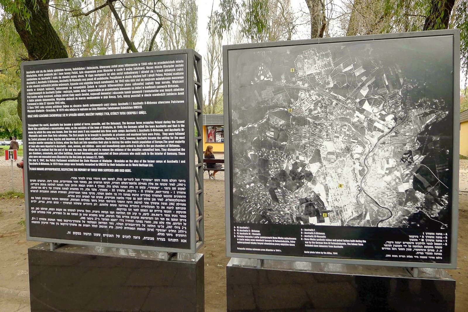 Map and History of Auschwitz