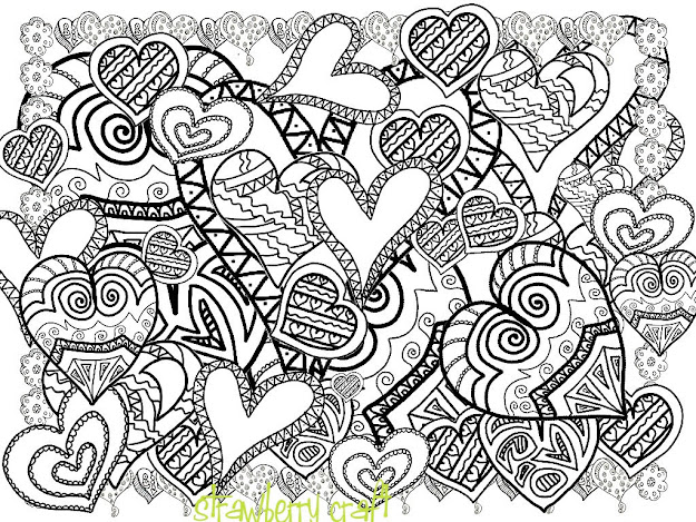 Adult Coloring Pages Hearts With Il Fullxfull Gyno