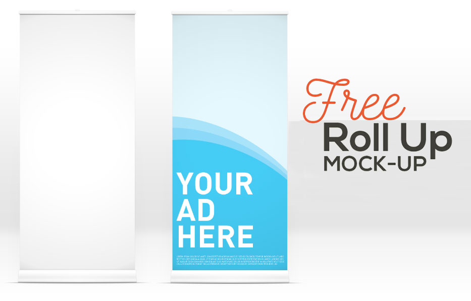 15 Useful Free Roll-up Banner Mockup PSD for Advertisment