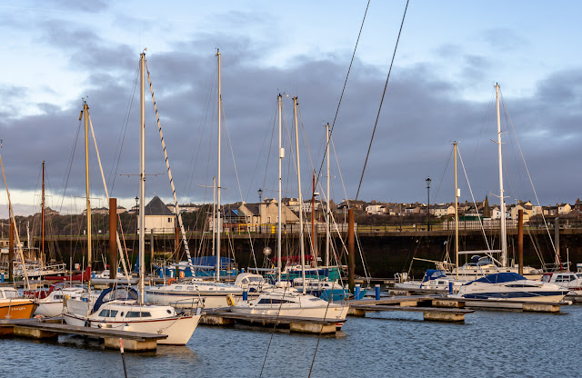 Photo of cloudy with sunny intervals at Maryport Marina on Saturday