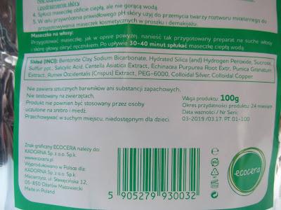 Ecocera Anti-Acne ingredients