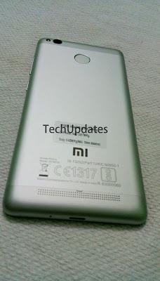 Xiaomi Redmi 3s Prime Back