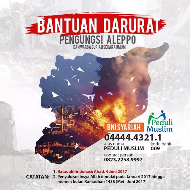 Bantuan Darurat Pengungsi Aleppo & Warga Korban Perang Suriah