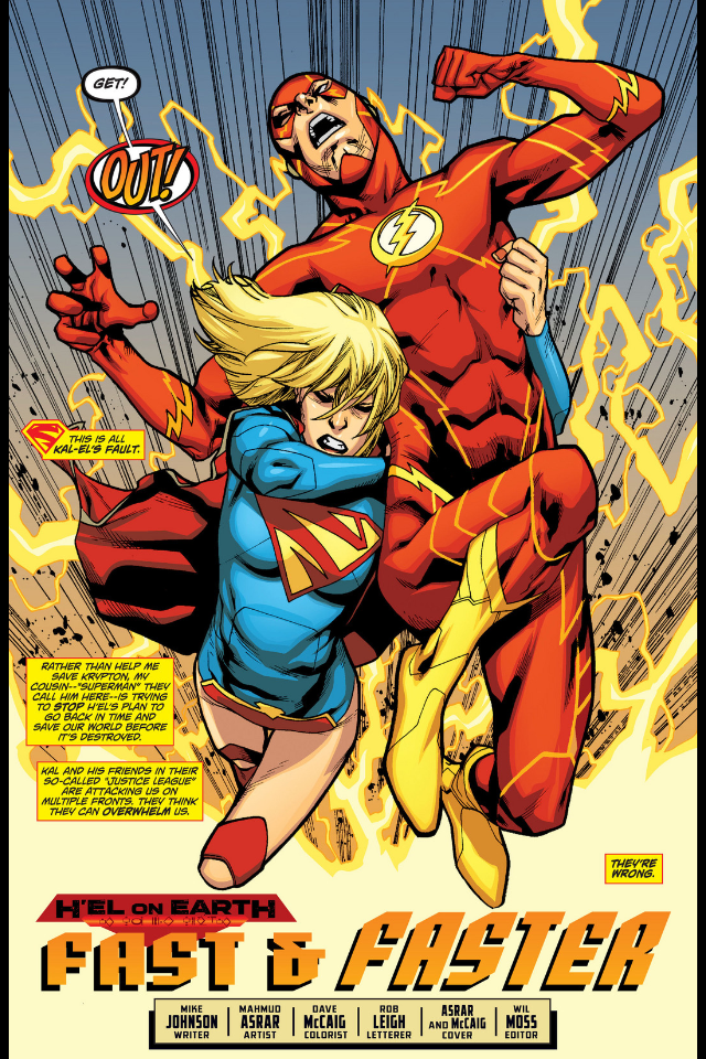the new 52 flash supergirl 16
