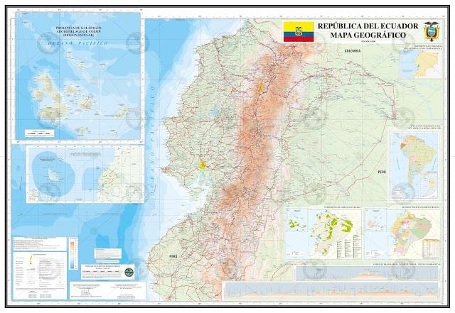 Mapa rodoviário do Equador