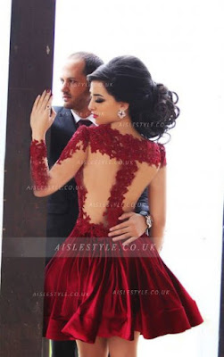 http://www.aislestyle.co.uk/illusion-jewel-neck-lace-bodice-aline-pleated-satin-ruby-red-short-prom-dress-with-long-sleeves--p-6139.html