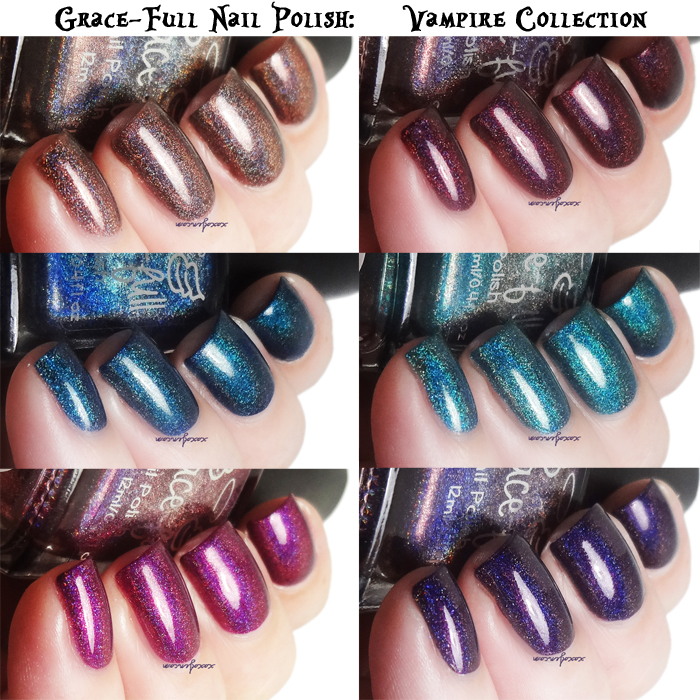xoxoJen's swatches of Grace-Full Vampire Collection