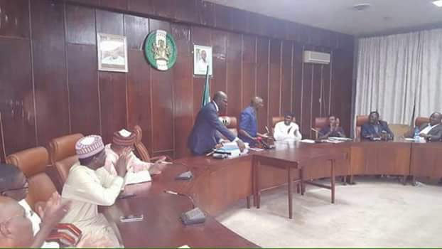 Photos: Oshiomhole hands over to Obaseki