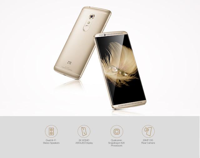 【クーポン追加!409ドル!】ZTEの最新スマートフォン、Snapdragon 820搭載AXON 7、これも気になります、買えませんが