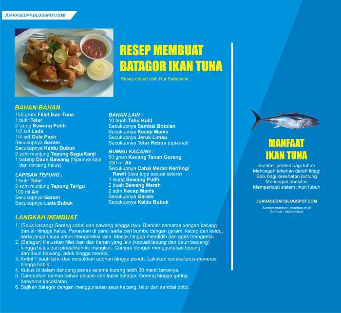 Resep Batagor Ikan Tuna dan Manfaat Ikan Tuna