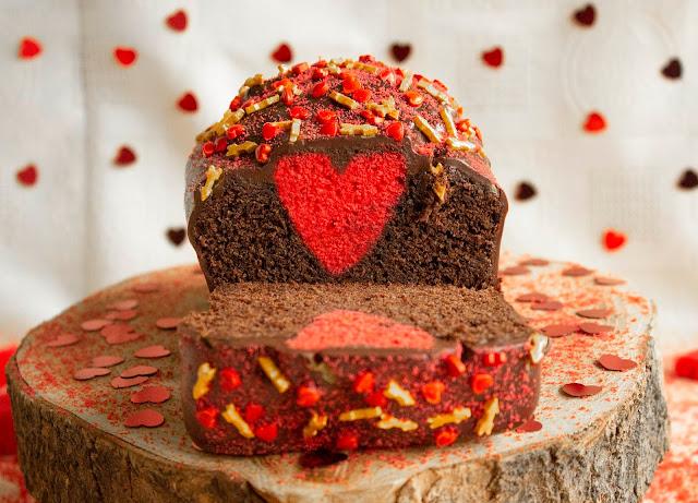 Cake De Yogurt Y Chocolate Para San Valentín