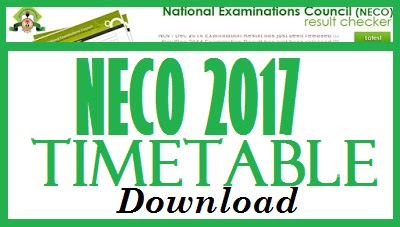 Download NECO Timetable here