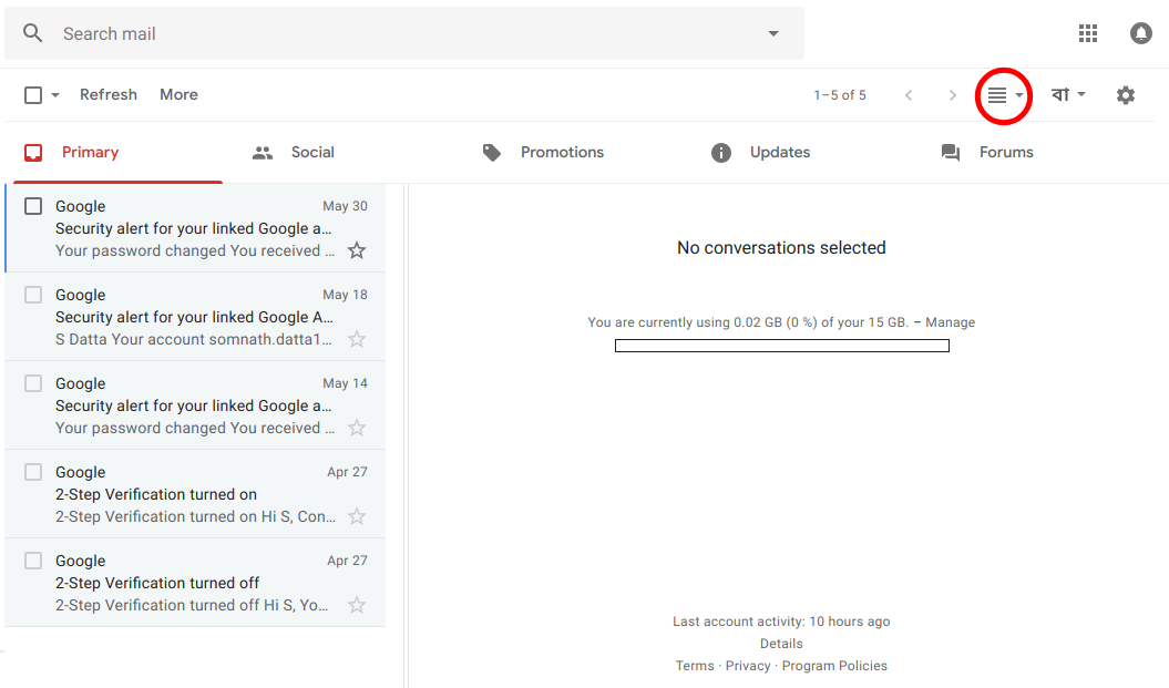 Exploring the Advanced Tab in Gmail Settings: About