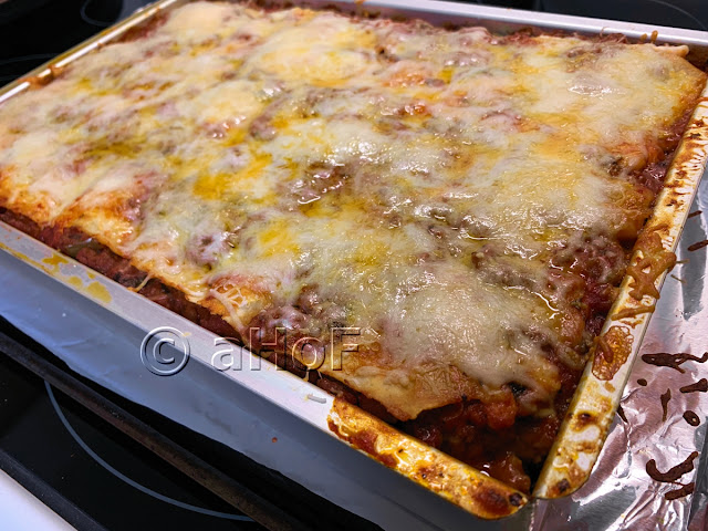 Lasagna with Homemade Pasta just out of oven