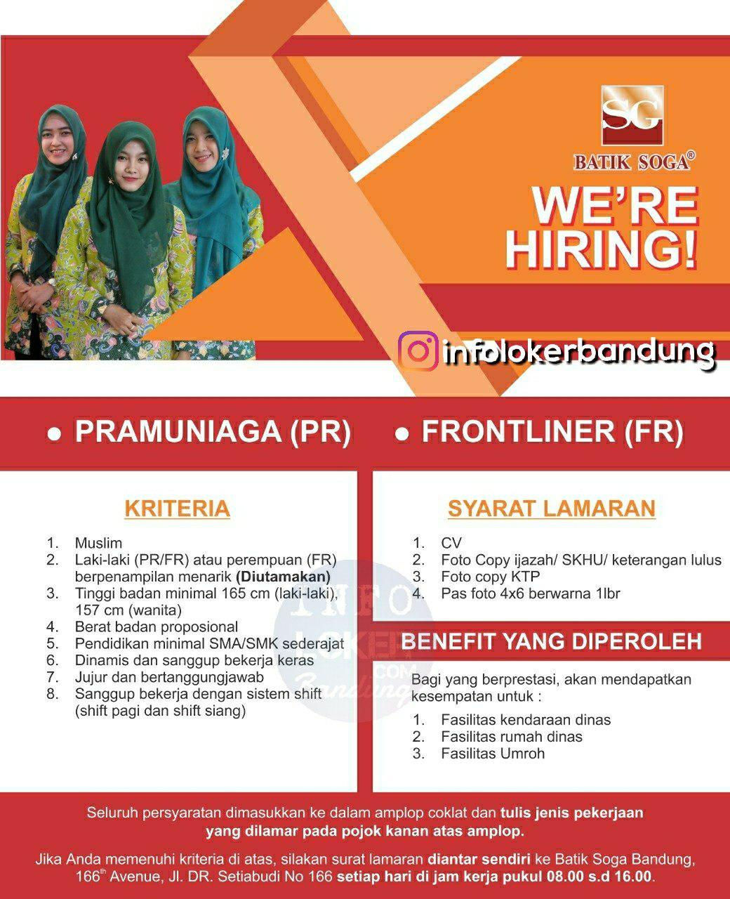 Lowongan Kerja Batik Soga Bandung September 2018