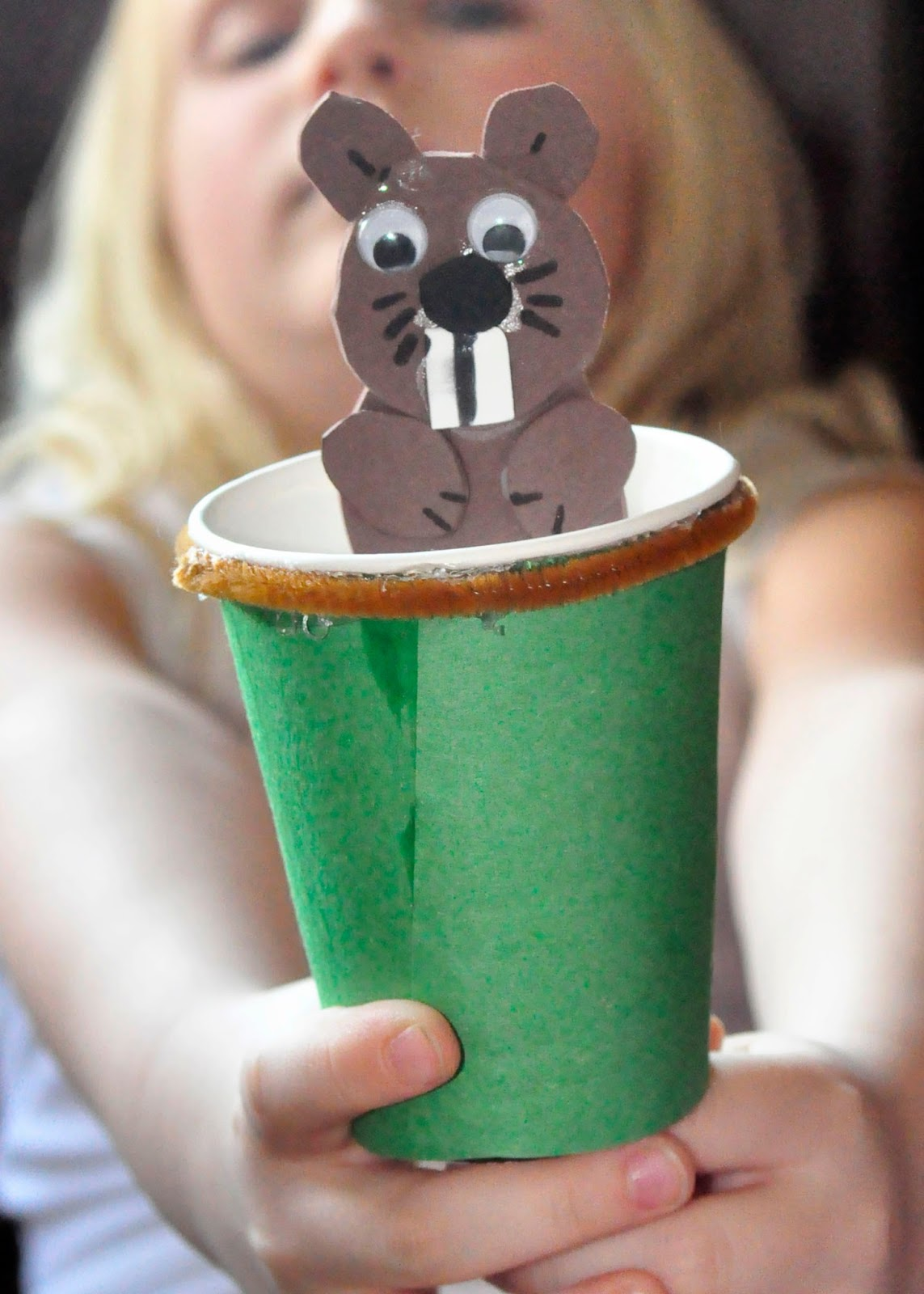 This Farm Family S Life Craft Time Groundhog Day Puppet