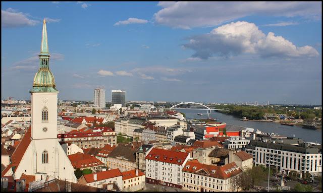 Toits de Bratislava, vue du château