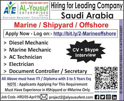 Hiring for leading Company in Saudi Arabia text image