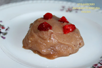 Strawberry Amaranth Halwa