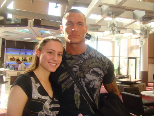 all sports stars randy orton with wife pics