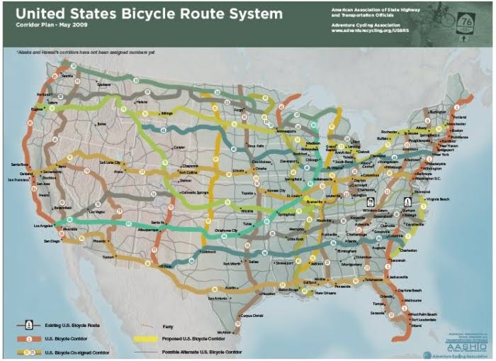 Type 2 Clydesdale Cyclist Overnight Rides As Gateway Drugs To - Us-bicycle-route-system-map
