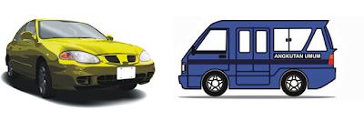 Mobil Sedan dan Mobil Angkutan Umum