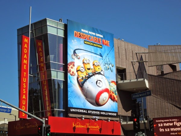 Giant Minion Mayhem Universal Studios Hollywood ride billboard
