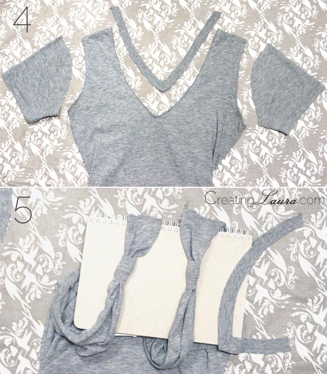 tutorial: transformar hombros de camiseta en lazo