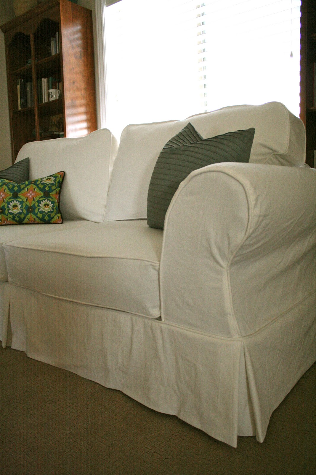 Custom Slipcovers By Shelley: White Couch Slipcover