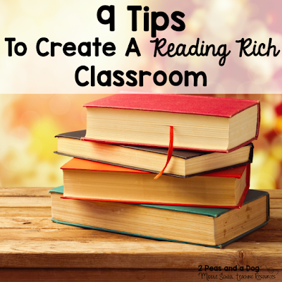 Students will thrive at reading if the classroom is set up to encourage relevant and purposeful reading materials. Read 9 tips for creating a rich reading environment in your English Language Arts classroom from the 2 Peas and a Dog blog.