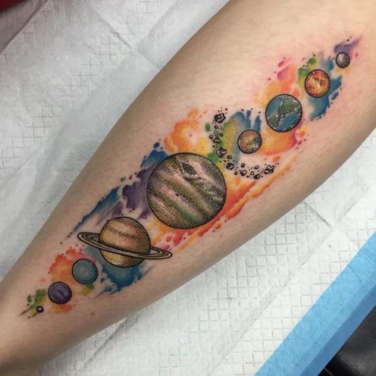 tatuagens de planetas para as meninas