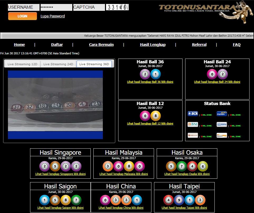 Situs Togel Online Indonesia 2017