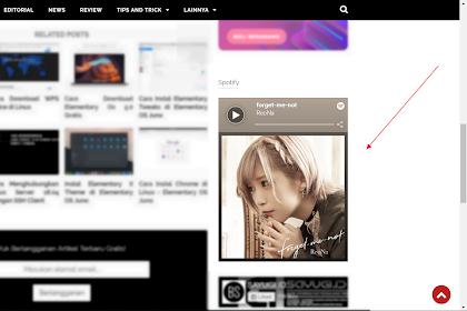 Cara Mudah Menambahkan Musik Spotify di Blog