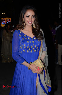 Telugu Actress Tejaswi Madivada Pos in Blue Long Dress at Nanna Nenu Na Boyfriends Audio Launch  0079.JPG
