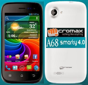 Micromax A68 Upgrade tools and flash file