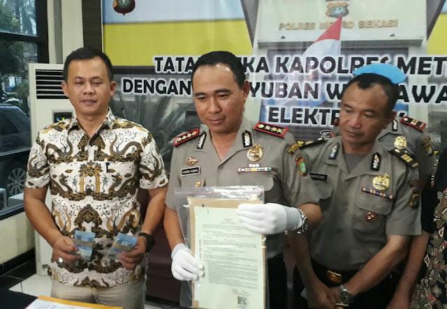 Polrestro Bekasi Bongkar Penipuan Media Online