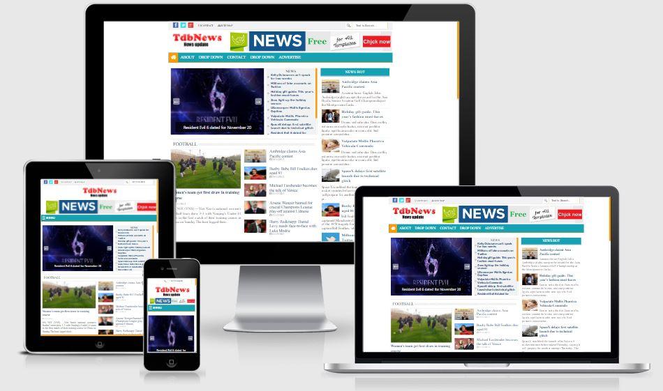 Chia sẻ Template Blogspot tin tức chuẩn đẹp