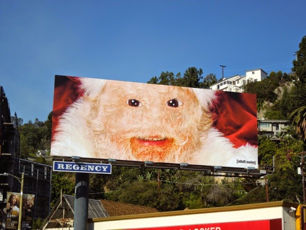 Creepy Santa Adult Swim billboard