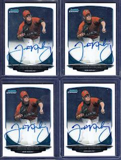 Justin Nicolino 2013 Bowman Chrome Prospect Autograph Pitcher Miami Marlins