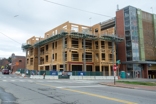 185 Fore Street Construction in Portland, Maine USA photo by Corey Templeton in April 2016.