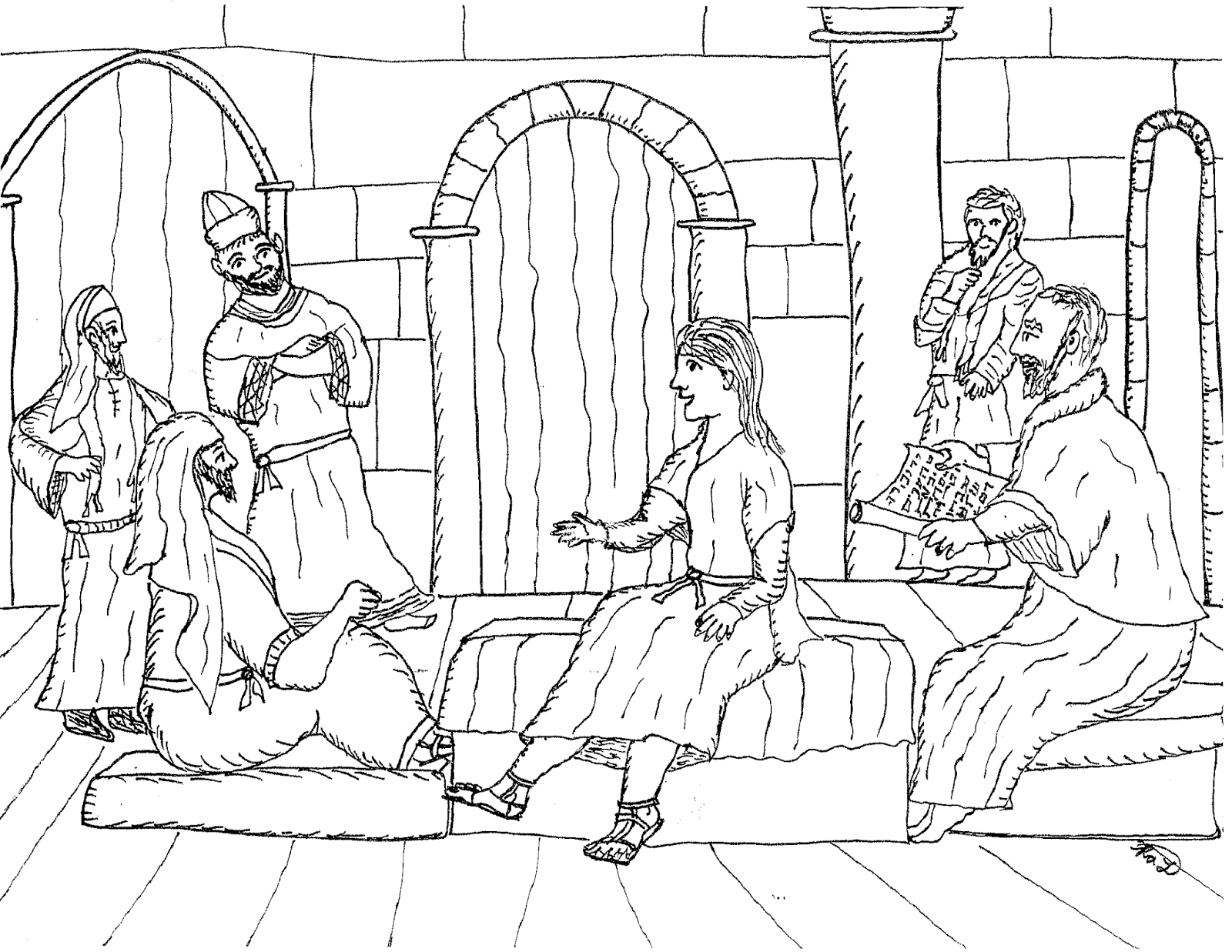92 Jesus In The Temple At 12 Coloring Page