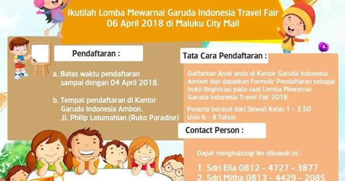 Lomba Mewarnai Garuda Indonesia Travel Fair 2018 Lomba Menggambar