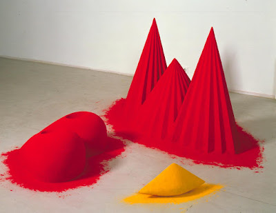 Anish Kapoor - As if to celebrate, Idiscovered a mountain blooming with red flowers,1981.