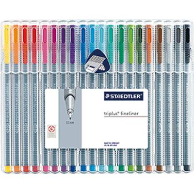 写真 「ステッドラー トリプラス ファインライナー・細書きペン 20色セット」