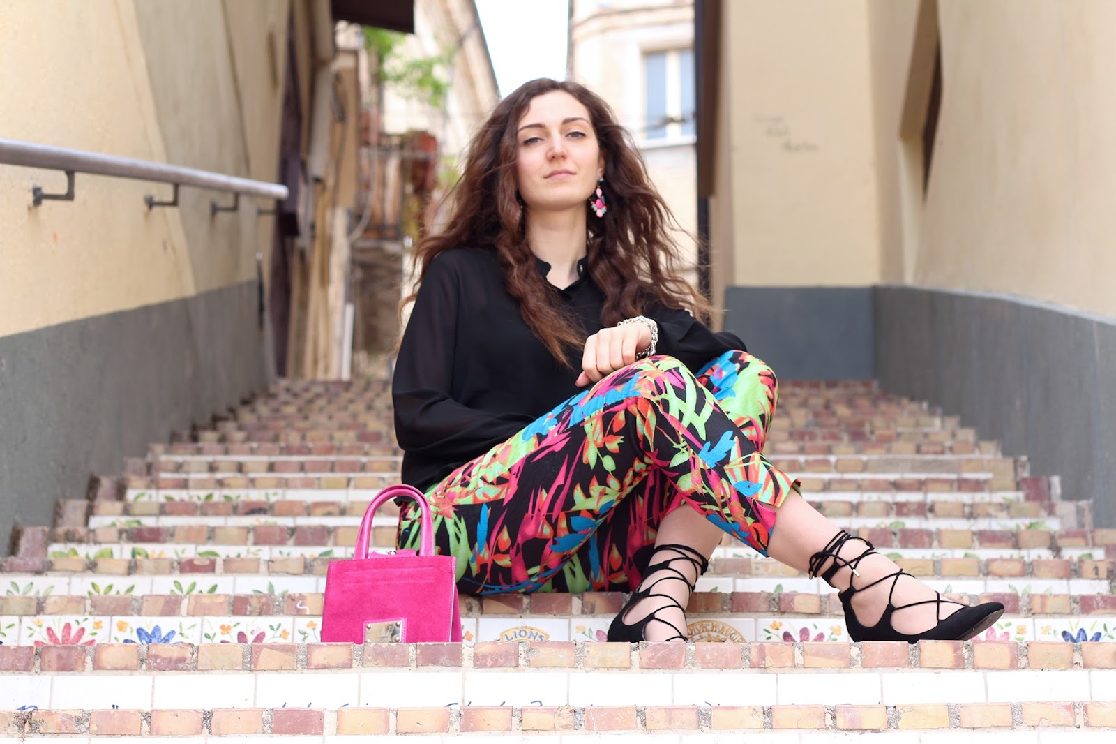 fashion style blogger italian girl italy vogue glamour pescara vasto goa goa pant colors zara heels sandals shoes scarpe