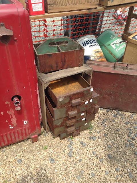 Vintage rustic storage