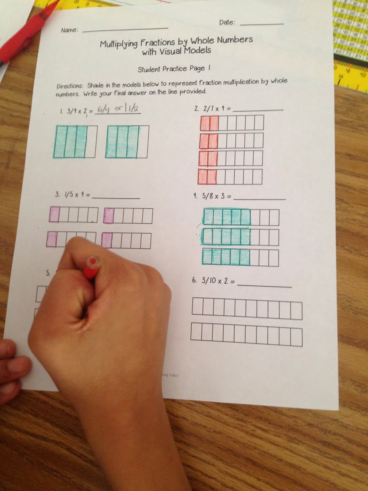 Terry's Teaching Tidbits Visual Fraction Models For Multiplication