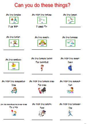 Materi Bahasa Inggris untuk Anak Level 1 (Usia 7 - 9 Tahun): I Can Read and Write (Aku Bisa Membaca dan Menulis)
