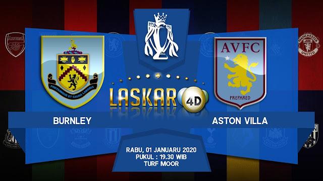 Prediksi Pertandingan Burnley vs Aston Villa 01 Januari 2020